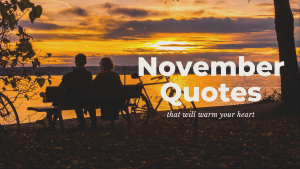November quotes to warm your heart