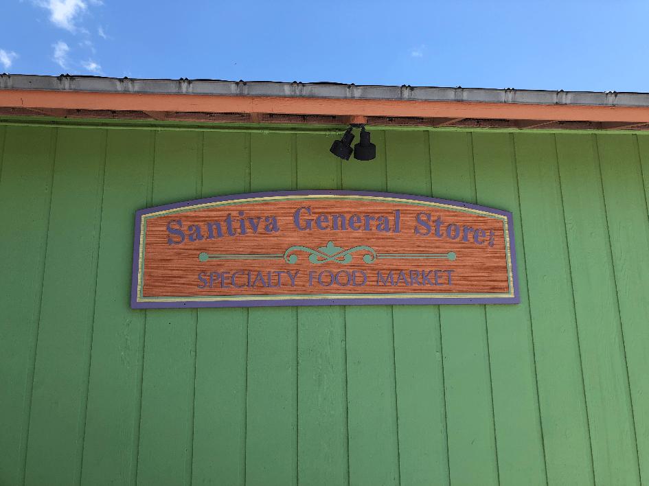 Santiva Store Sign